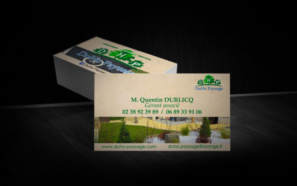 Création - Carte de visite Duho Paysage